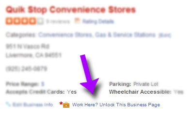 how to unlock your Yelp business page
