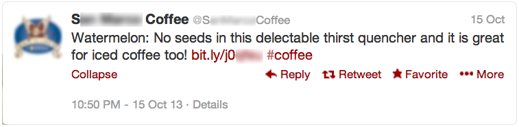 coffee company uses twitter to hear themselves talk
