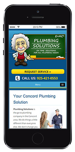 mobile web design for plumbing solutions in Concord, CA