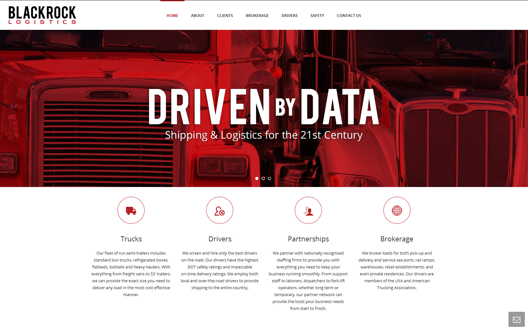 Responsive web design for Blackrock Logistics, Inc. in Pleasanton, CA